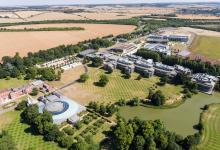 Aerial photograph of the Wellcome Genome Campus