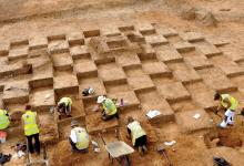 Archaeological excavation on the Wellcome Genome Campus